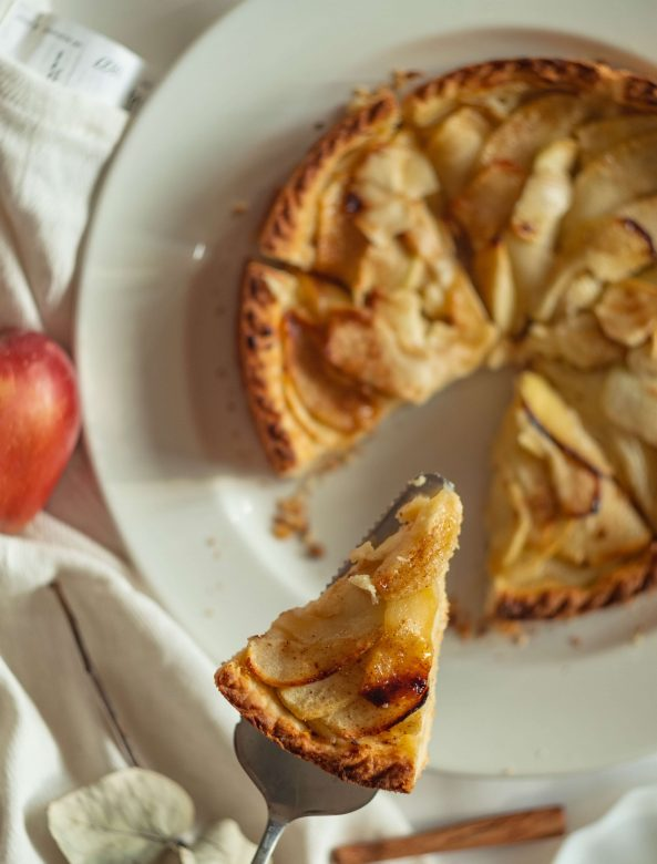This image has an empty alt attribute; its file name is Apple-tart-1-593x780.jpg